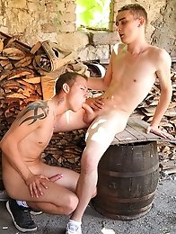 Two blonde fucked hard outdoors
