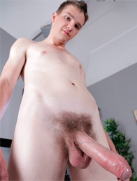 Monster Cocks: Horny Blond Twink Savours Every Inch Of Robie Kasls Monster Uncut Dick!