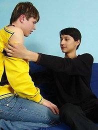 Asian twink fucked by a white lad